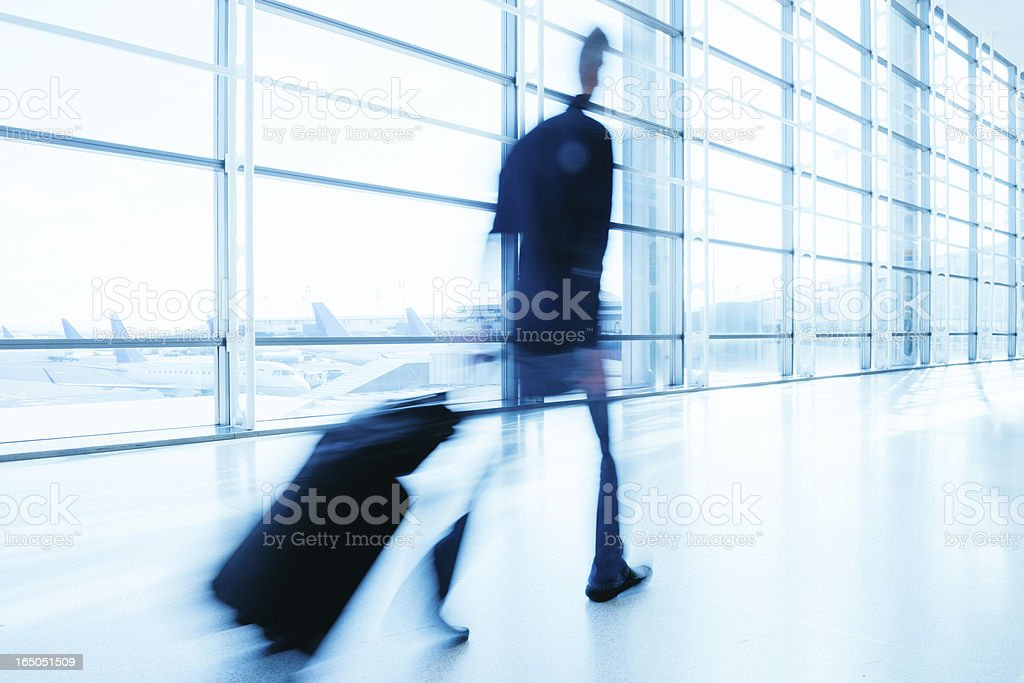 Airport Business Travel royalty-free stock photo