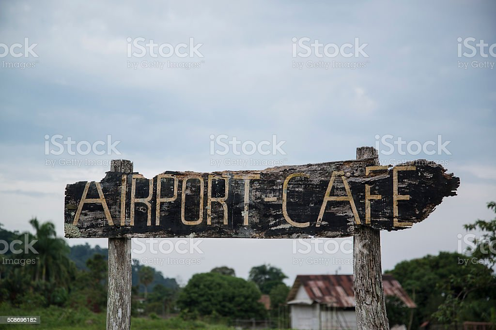 Airport Cafe stock photo