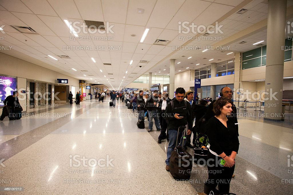 Airport Cancellations stock photo