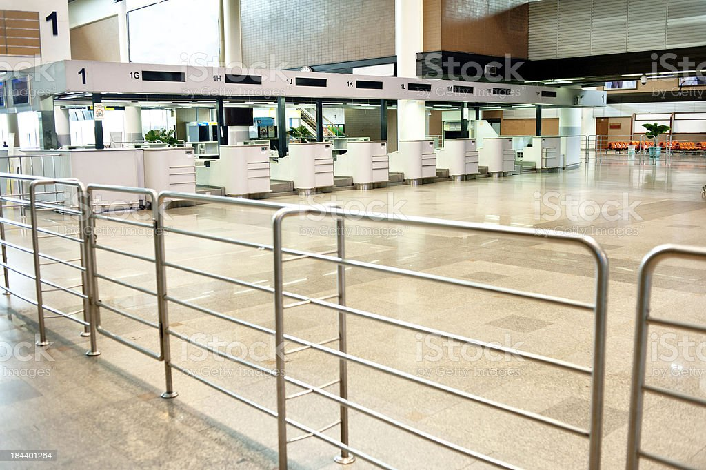 Airport Check In Counters royalty-free stock photo