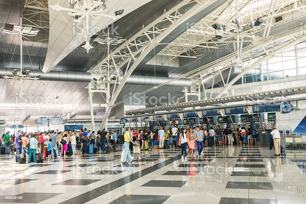 Airport Check In stock photo