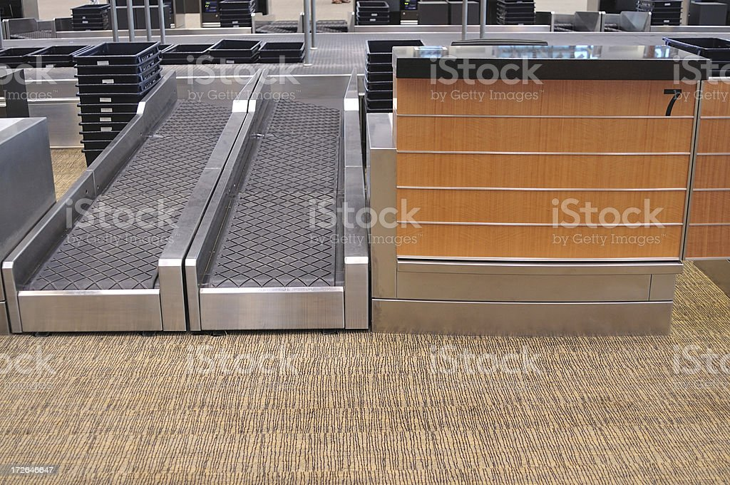 Airport Check-in Counter stock photo
