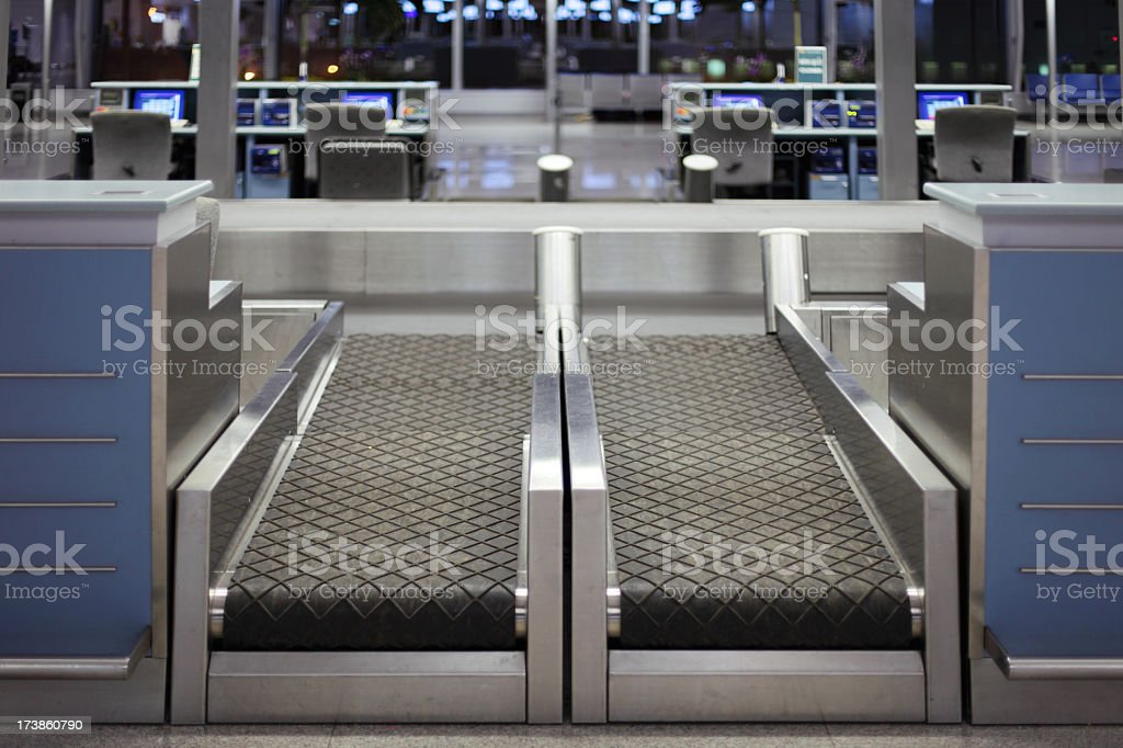 Airport Check-In Counter royalty-free stock photo