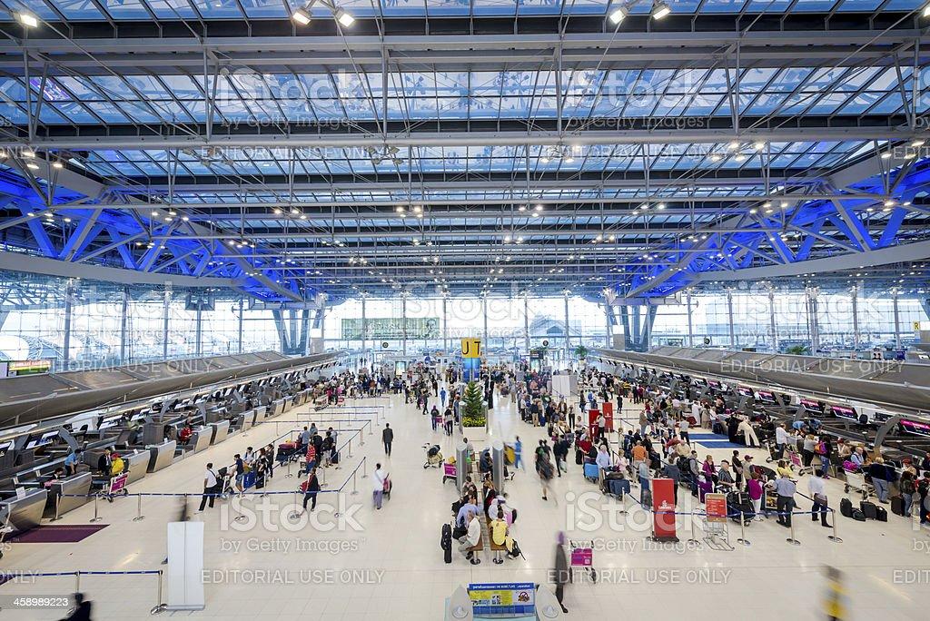 airport check-in counters,  Bangkok royalty-free stock photo