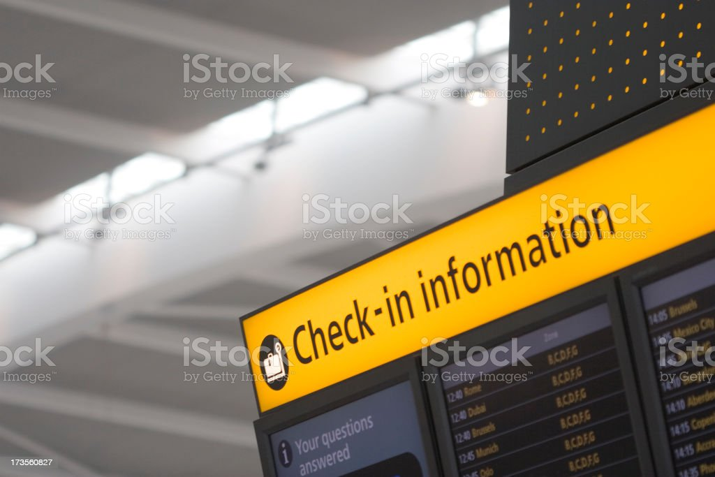 Airport Check-In (with clipping path) royalty-free stock photo