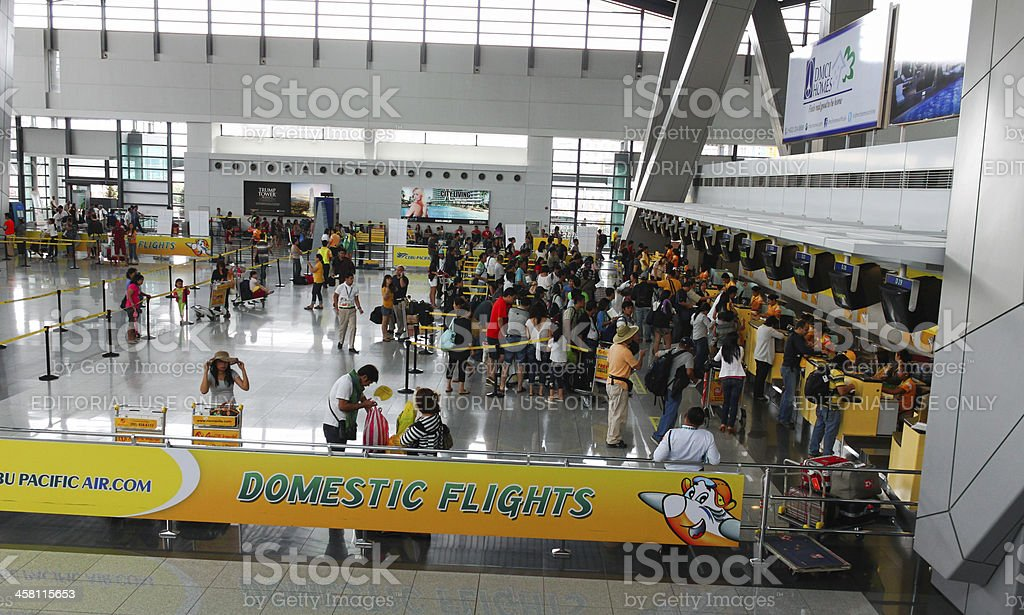 Airport check-in stock photo