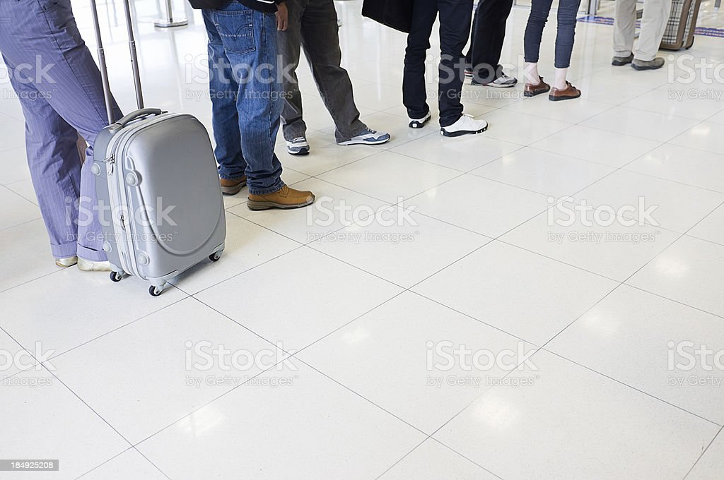 Airport Checking point stock photo