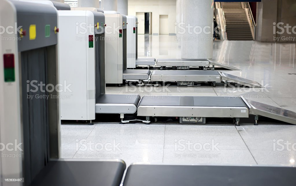 Airport Checkpoint stock photo