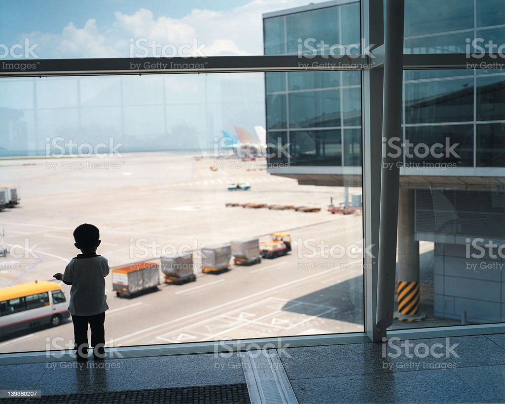 airport child - a series, see portfolio royalty-free stock photo