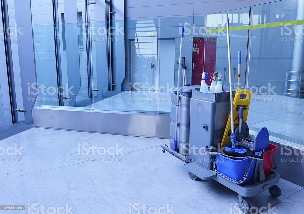 Airport Cleaning Equipment royalty-free stock photo