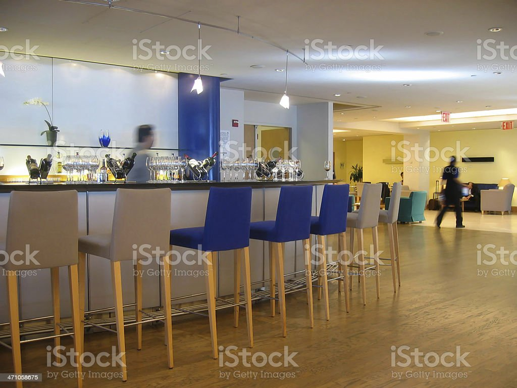 Airport Club Lounge royalty-free stock photo