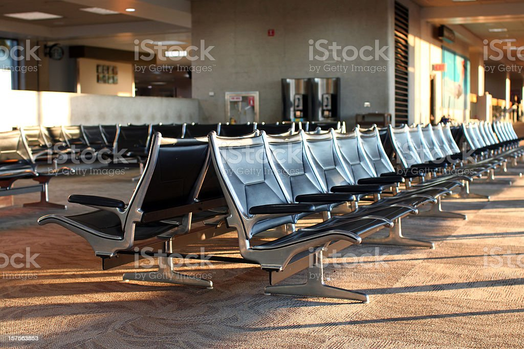 airport concourse seating royalty-free stock photo