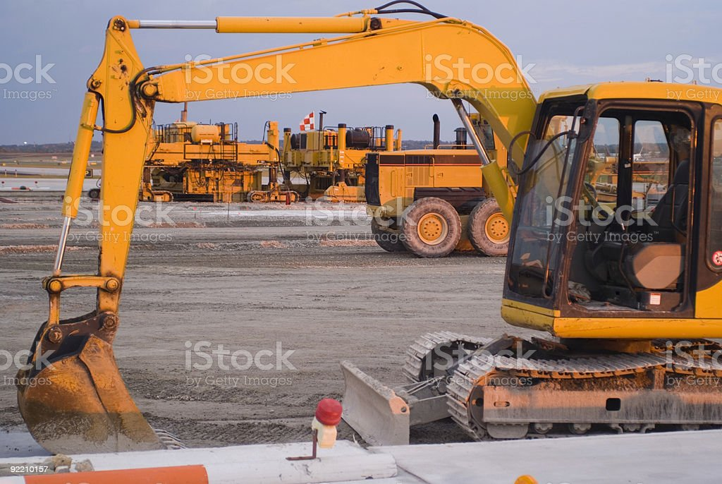 Airport Construction royalty-free stock photo