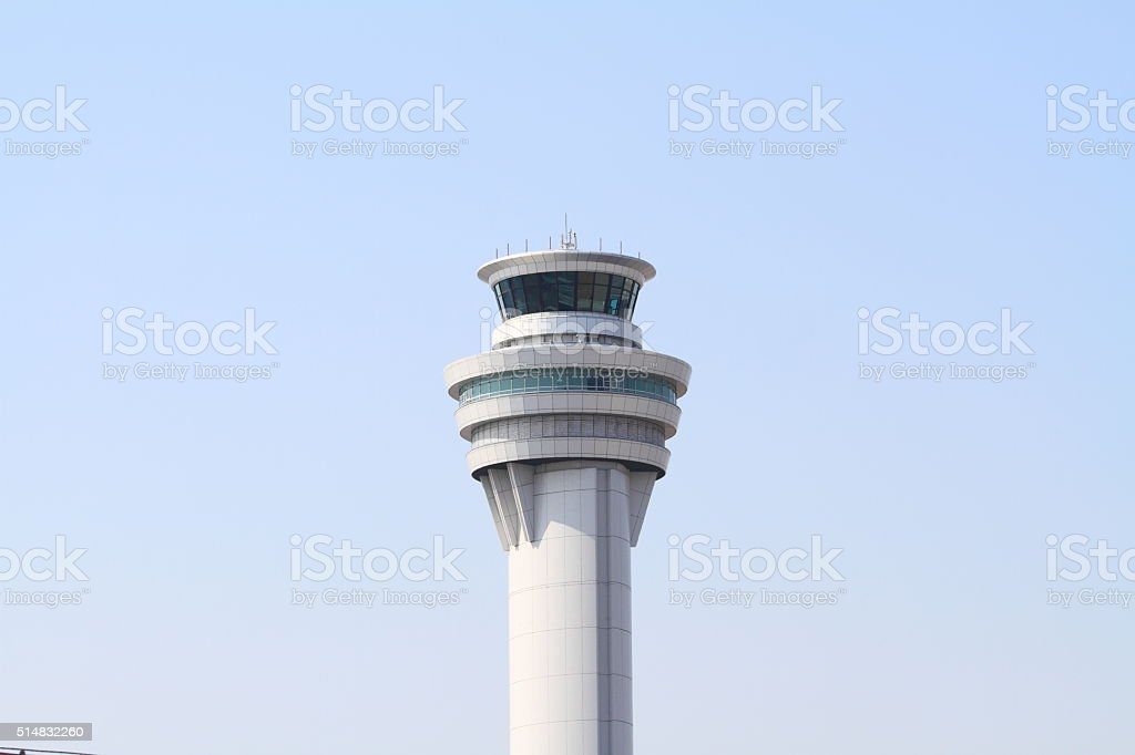 Airport control tower at tokyo international airport stock photo