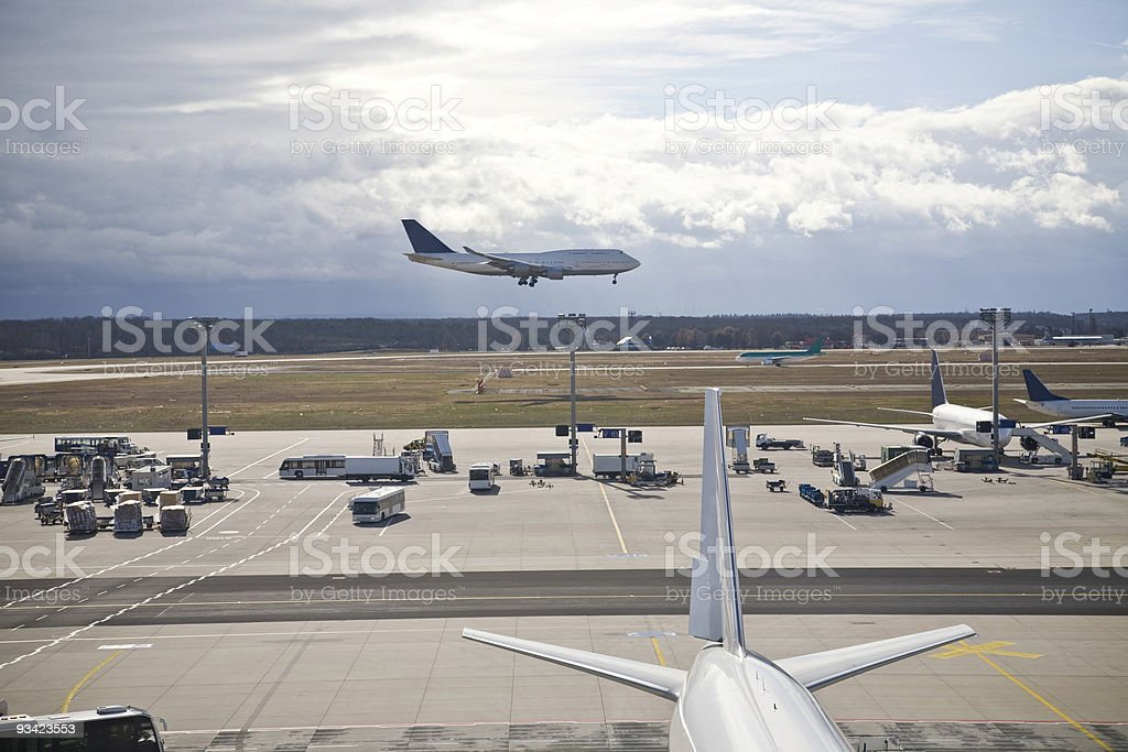 airport daily business stock photo