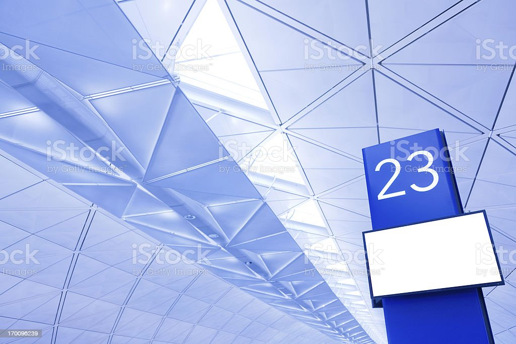 Airport Departure Gate stock photo