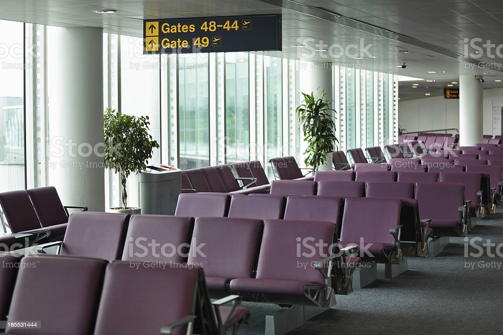 Airport departure gate royalty-free stock photo