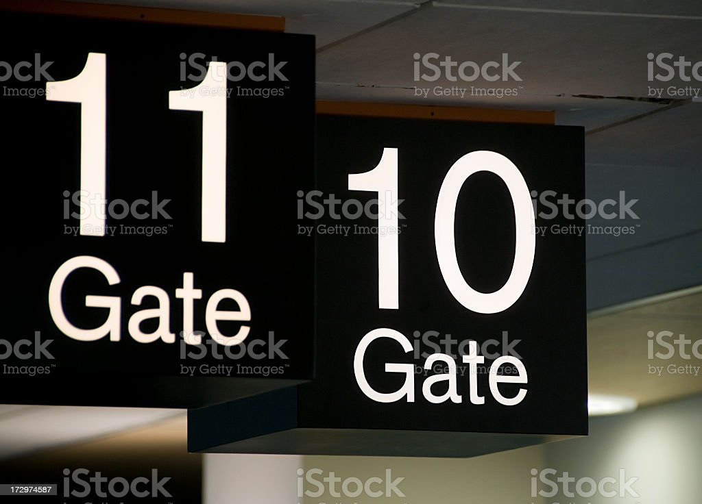 Airport Departure Gates royalty-free stock photo