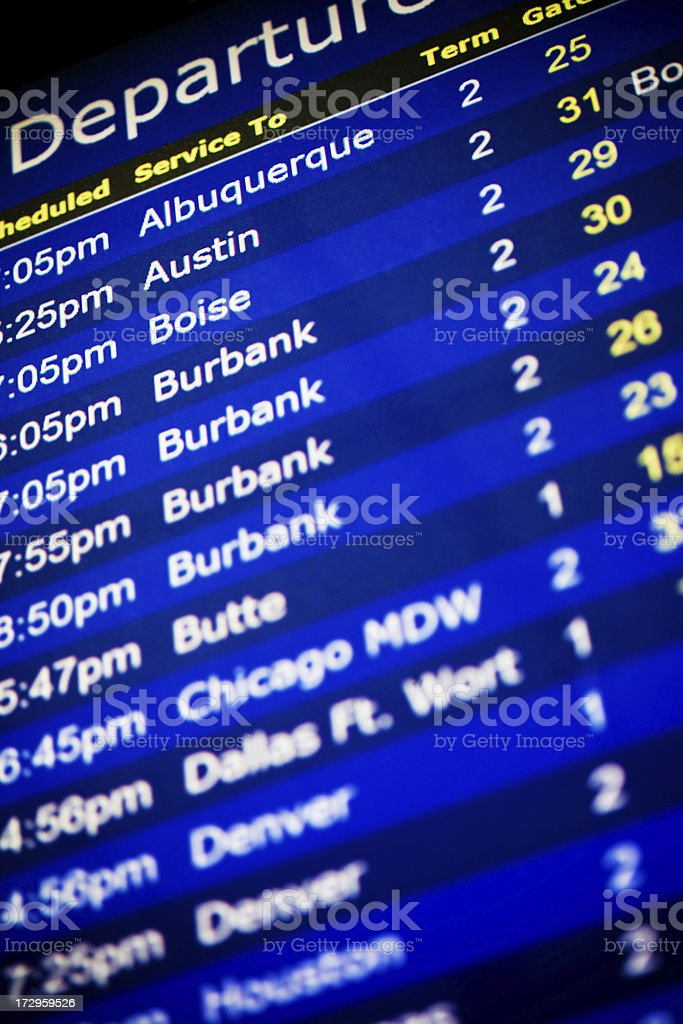 airport departure itinerary royalty-free stock photo