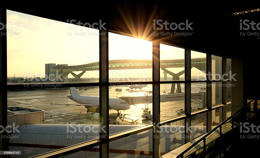 Airport Departure Lounge stock photo