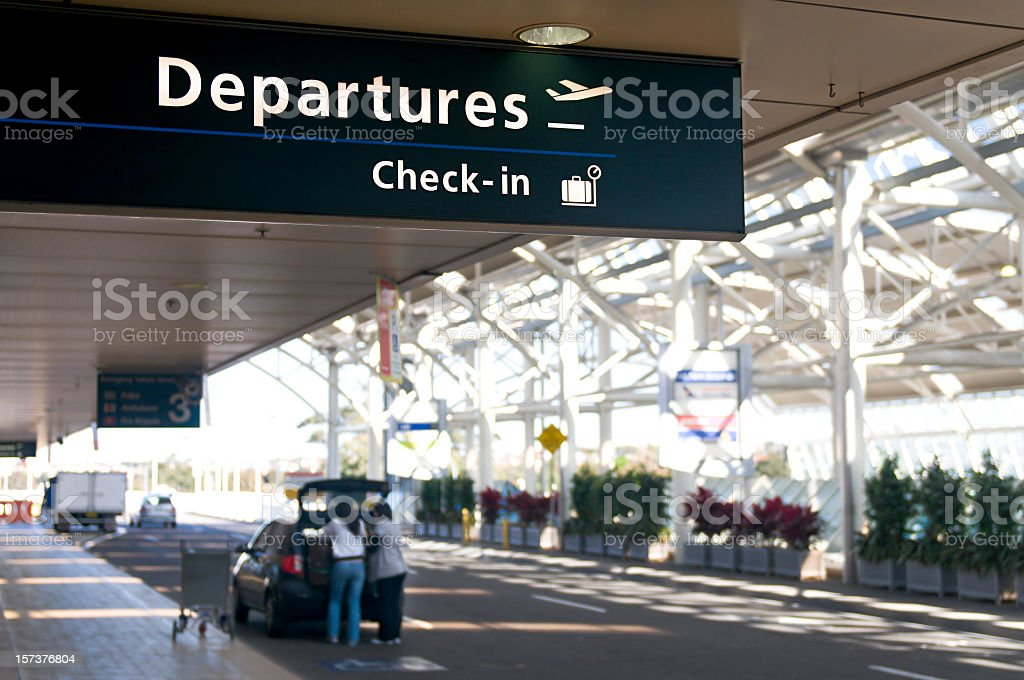 Airport Departure royalty-free stock photo