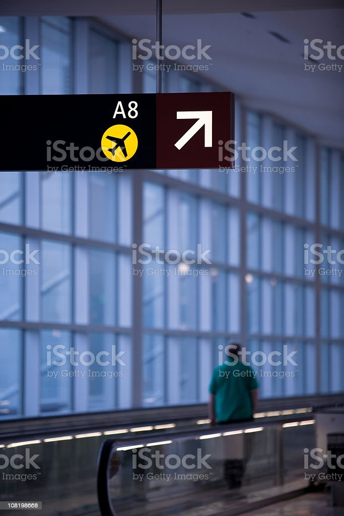 Airport departure sign royalty-free stock photo