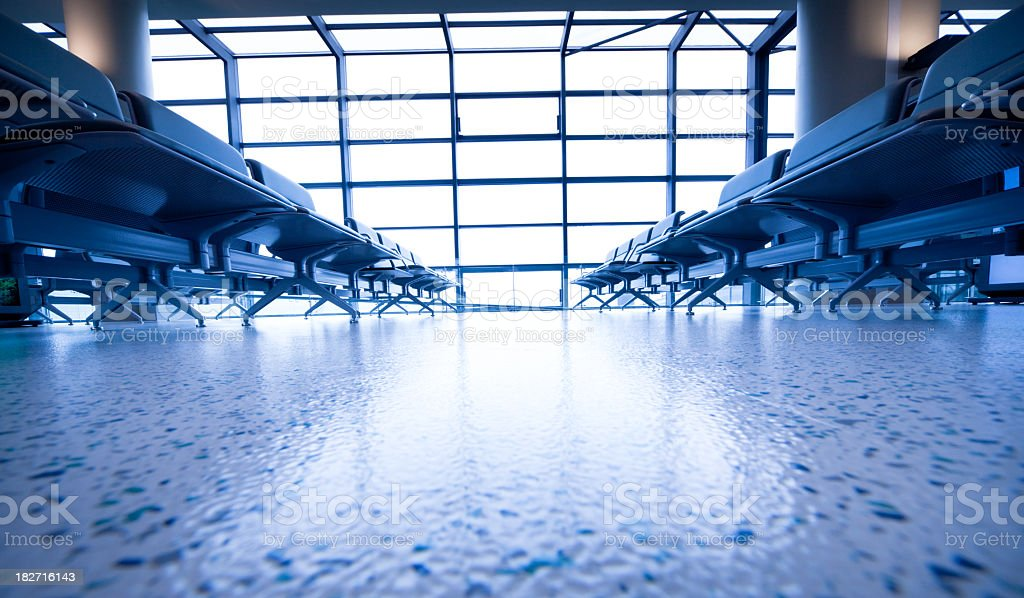 Airport Departures terminal royalty-free stock photo