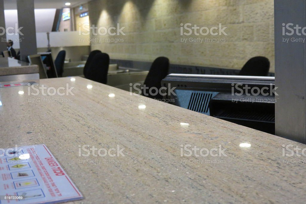 Airport Desk stock photo