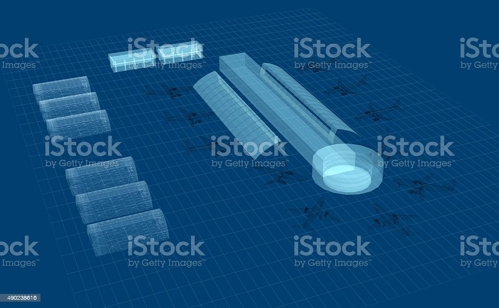 Airport development stock photo