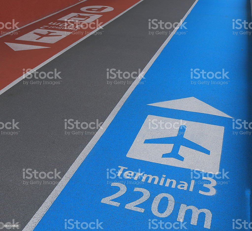 Airport direction stock photo