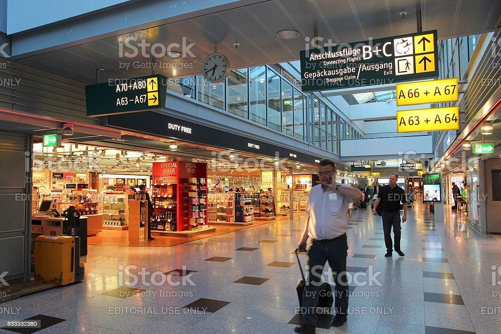 Airport duty free stock photo