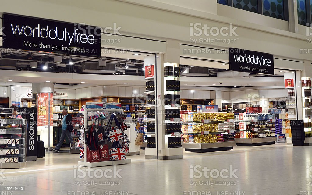 Airport Duty Free Store stock photo