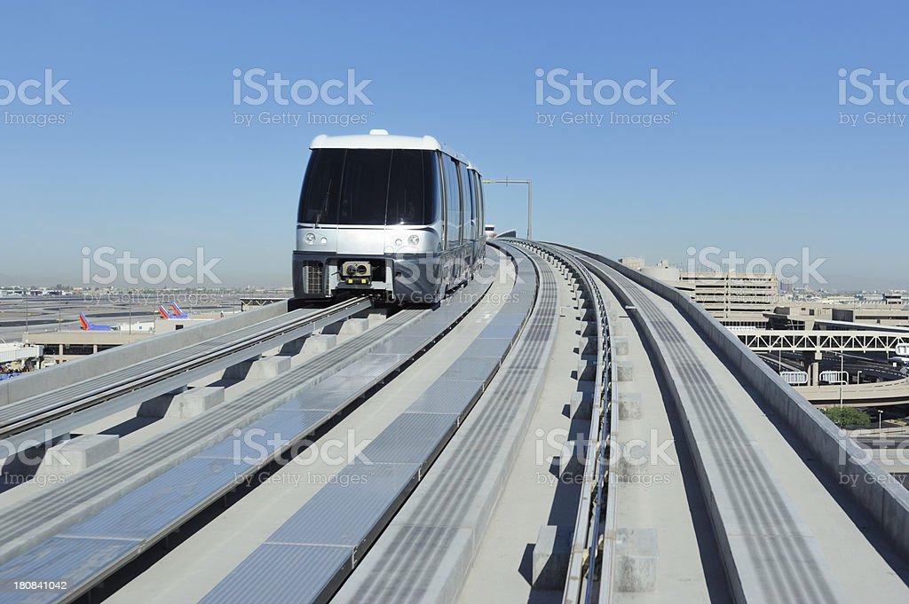 Airport electric passenger train stock photo