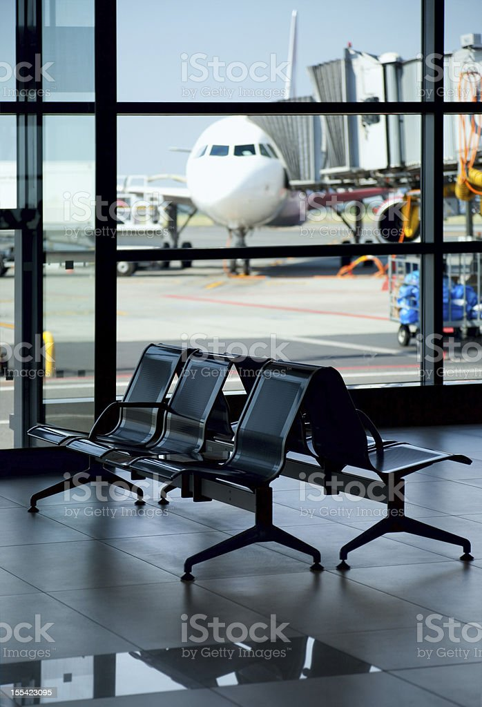 Airport / Empty Terminal / Waiting Area stock photo