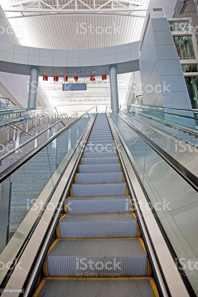 Airport Escalator Modern Architecture royalty-free stock photo
