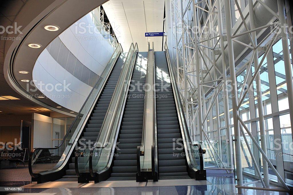 Airport escalator royalty-free stock photo