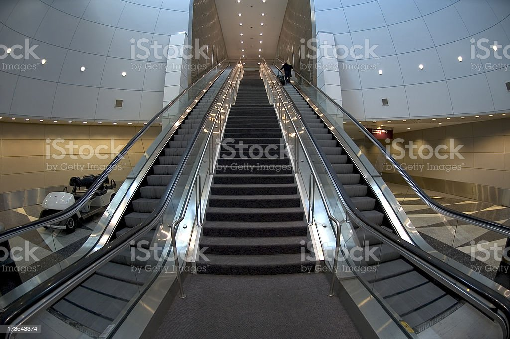 Airport Escalator royalty-free stock photo