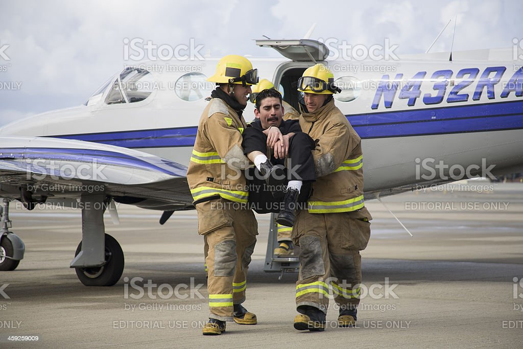 Airport Fire Fighters royalty-free stock photo