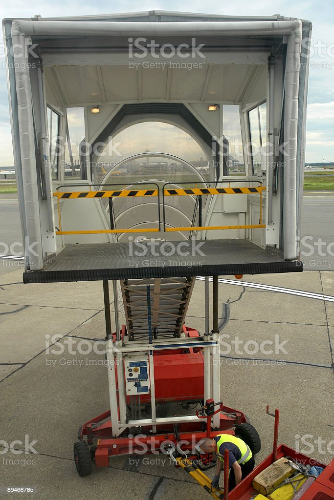 Airport Gangway royalty-free stock photo