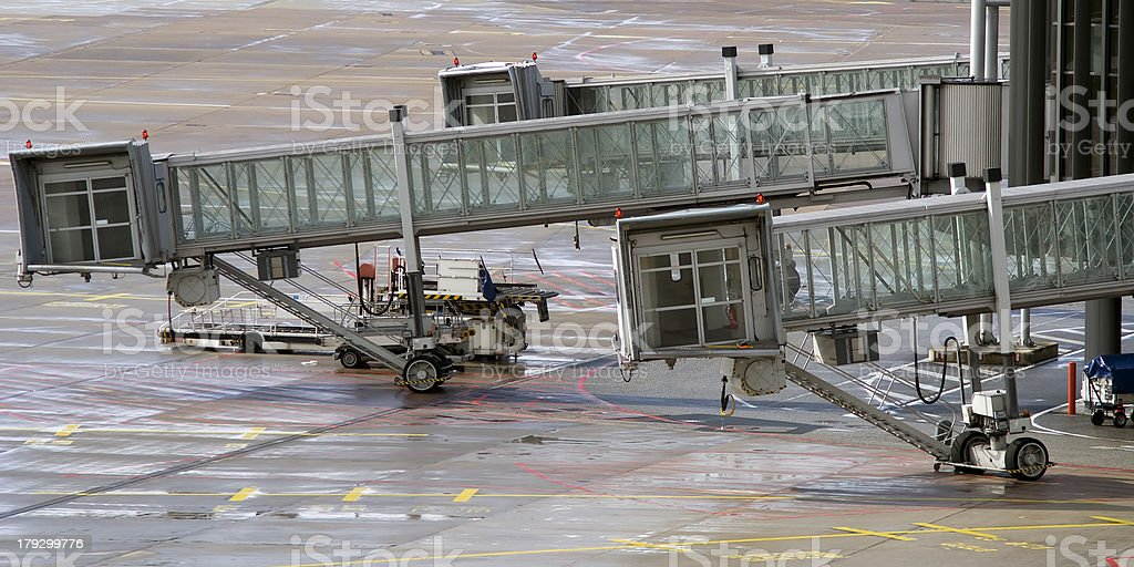 Airport gangways royalty-free stock photo