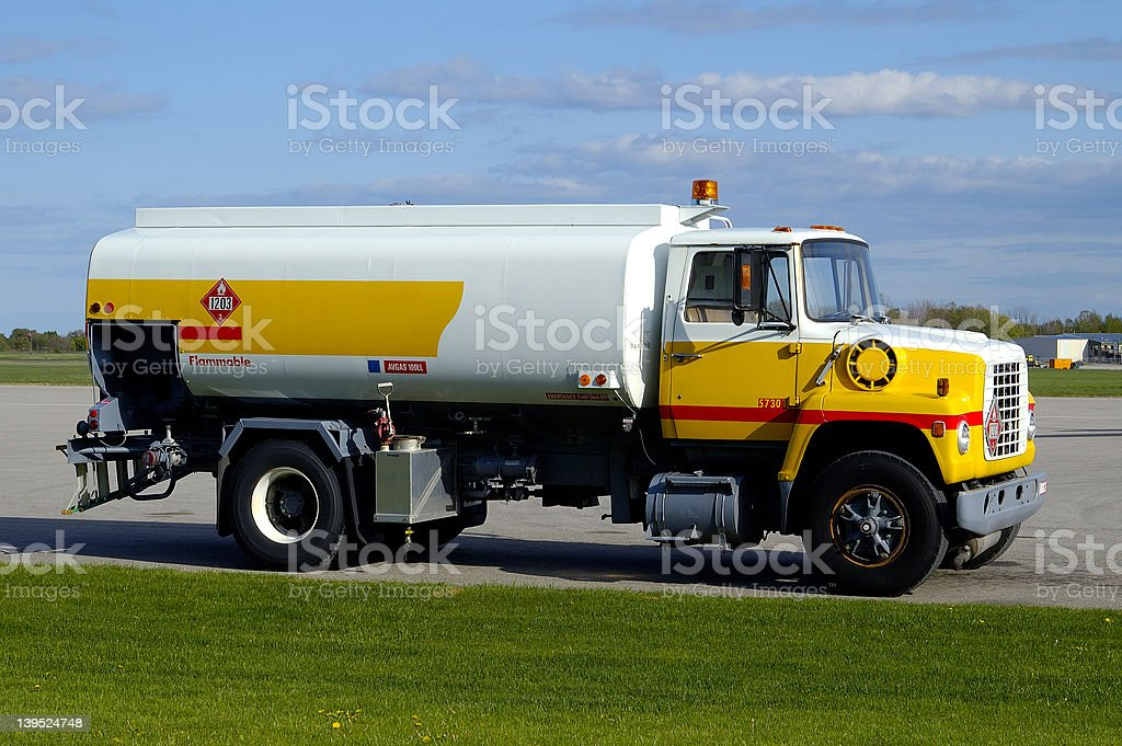 Airport Gas Truck w/Paths royalty-free stock photo