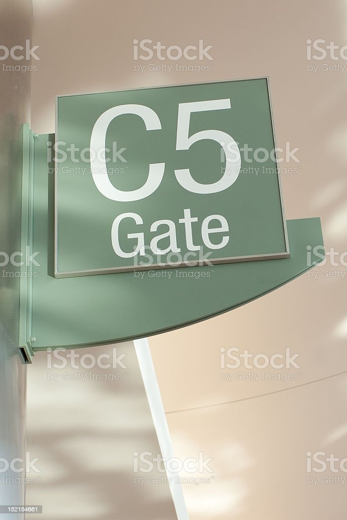 Airport Gate C5 royalty-free stock photo