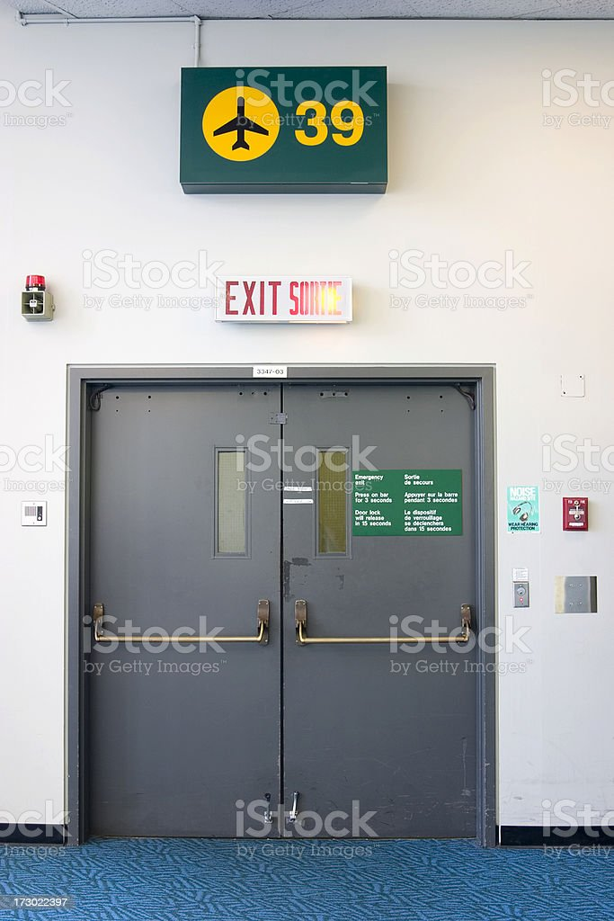Airport gate exit royalty-free stock photo