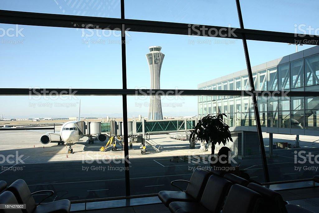airport gate Shanghai royalty-free stock photo