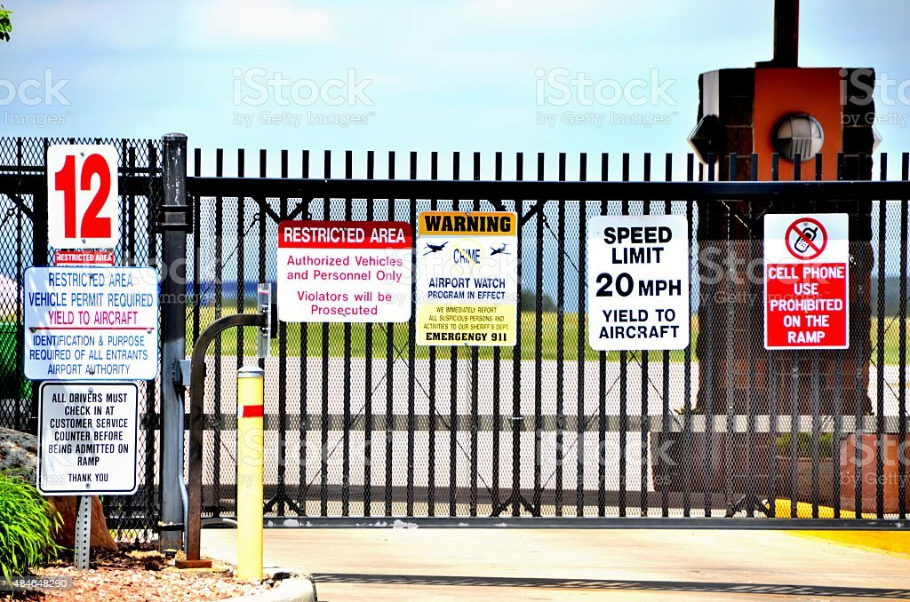Airport Gate Signs stock photo