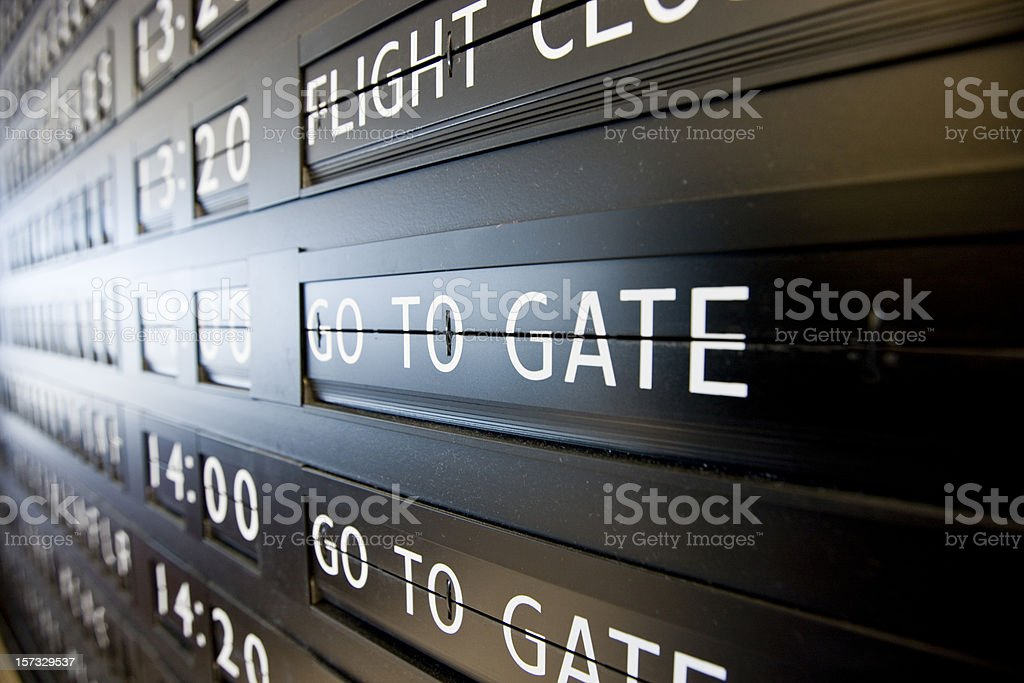 Airport - Go to Gate royalty-free stock photo
