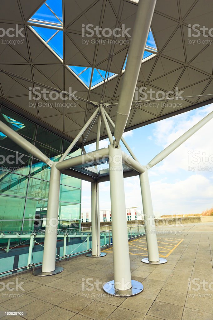 Airport hall detail stock photo