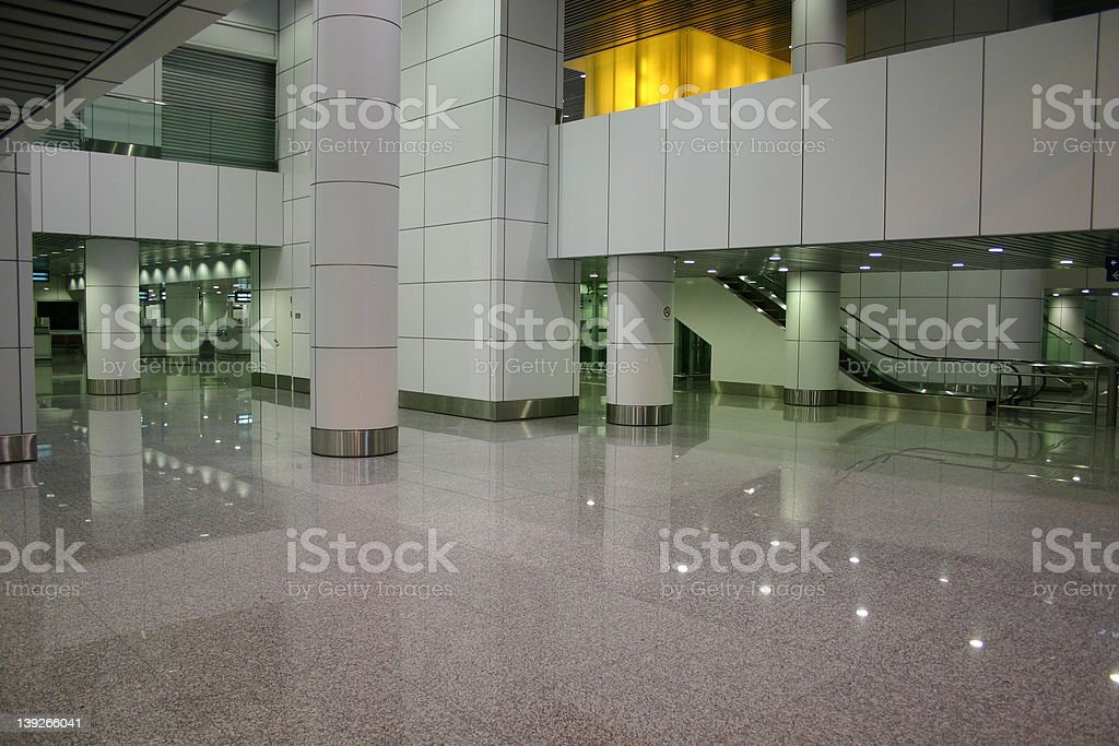Airport Hall royalty-free stock photo