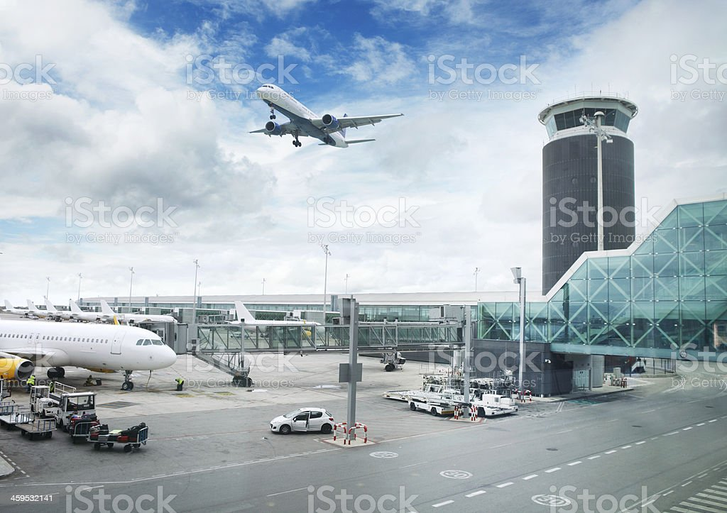 Airport in Barcelona stock photo