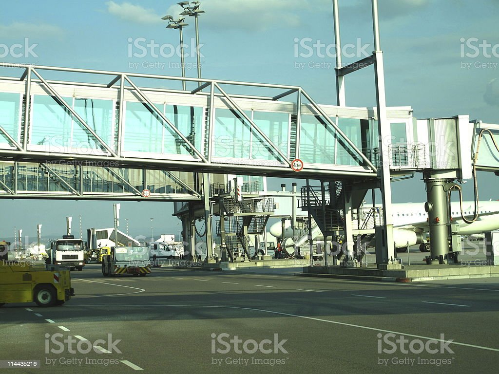 Airport in Stuttgart stock photo
